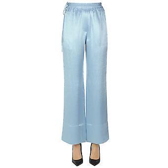 Acne Studios Ezgl151085 Women's Light Blue Satin Pants