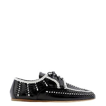 Prada 1e177m3avhf0967 Women's Black Leather Lace-up Shoes