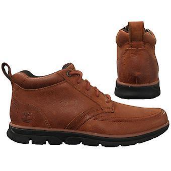 تيمبرلاند برادستريت موك تو تشوكا الجلود براون الرجال أحذية الكاحل A1JO9 B12C