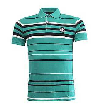 Timberland Earthkeepers Green Striped Cotton Mens Polo Top Shirt 6014J 306 R12A