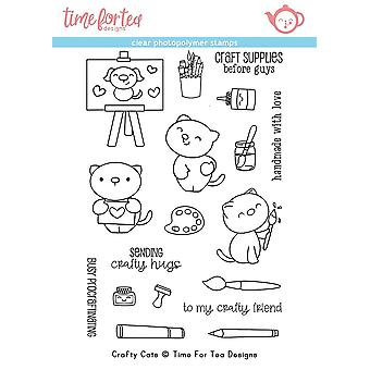 Time For Tea Crafty Cats Clear Stamps