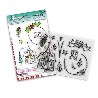 Polkadoodles Holly Blessings Clear Stamps