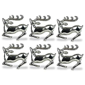 Dii Silver Stag Napkin Ring (Set Of 6)
