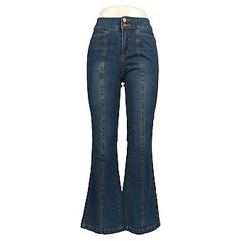 G.I.L.I. Women's Jeans Dual Stretch Back Slit Flared Denim Blue A351927