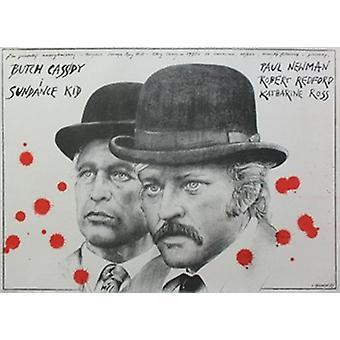 Butch Cassidy og Sundance Kid filmen plakaten (17 x 11)