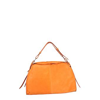 Carditosale Cf210sus0048 Women's Orange Leather Handbag