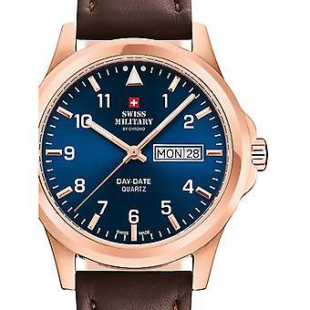 Reloj masculino militar suizo por Chrono SM34071.08, cuarzo, 40 mm, 5ATM