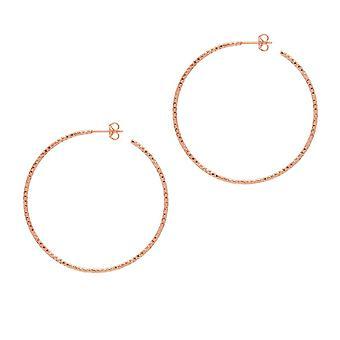 The Hoop Station La SARDEGNA Rose Gold Plated 45 Mm Hoop Earrings H267R