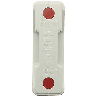 Bussmann RS20P-GWH 20A Back Stud White Red Spot Fuse Holder