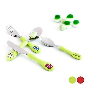 Cutlery set Amefa Enfant (4 pcs)/Green