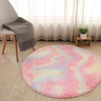 Fluffy Round Rug Carpets For Living Room, Kids Room, Bedroom