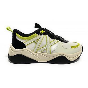 Shoes Women's Armani Exchange Sneaker Mesh Lycra Off White Black Ds20ax02