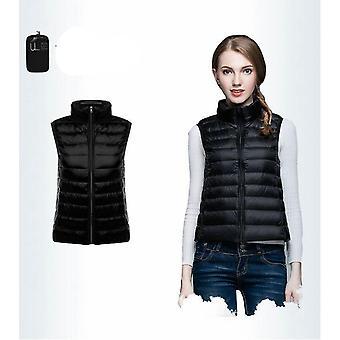 Women's Sleeveless Ultra Light Down Vests Slim Jacket
