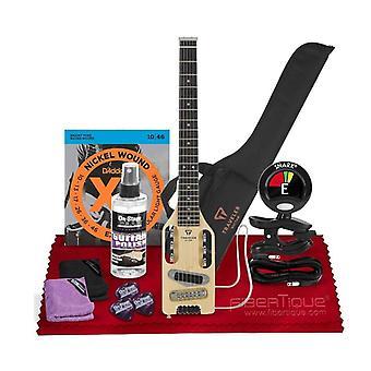 """Traveler guitarra eléctrica ultraligero + clip-on 360° sintonizador giratorio, cuerdas de guitarra, xpix 1/4"""" trs cable, cuidado universal de la guitarra ps42823"""