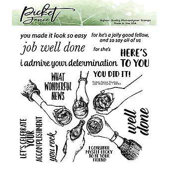 Picket Fence Studios Job Well Done 6x6 Inch Clear Stamps