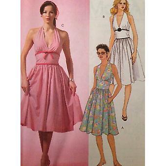 McCalls Schnittmuster 4826 Misses / Damen Neckholder Kleid Größe 4-10 ungeschnitten