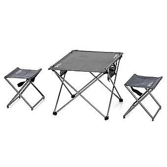 Outdoor foldable camping picnic tables portable compact lightweight folding roll-up table