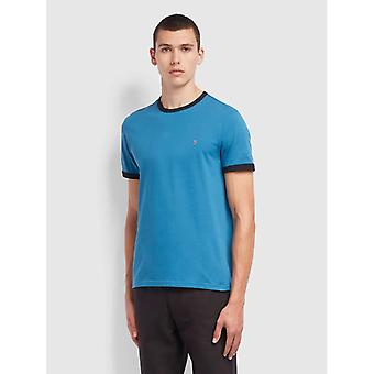 Farah Groves Ringer T-Shirt - Farah Blue