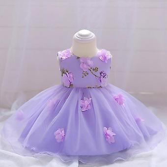 Детские Свадебное платье Цветочное платье, Партия Ручной сшитые платье