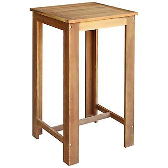 vidaXL Bar table acacia wood solid 60 x 60 x 105 cm