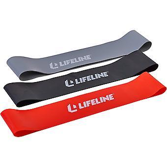 Lifeline USA Flat Resistance Band Loops Kit - Monivärinen