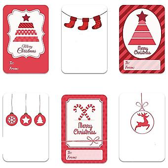 Designs Adhesive Christmas Name Tags Xmas Stickers Present Seal Labels