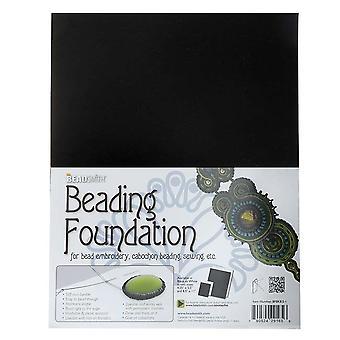 Beadsmith Beading Foundation kirjontatyöhön - musta 11x8,5 tuumaa (4 pakkaus)
