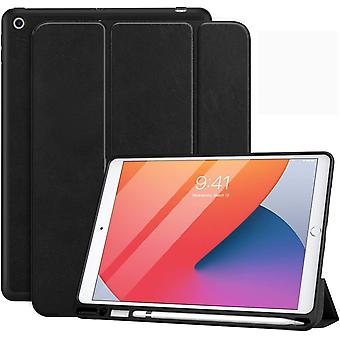 "FengChun Hülle Kompatibel mit Neu iPad 10.2"" 2020/2019 mit Apple Pencil Halter, Dünne Hülle Ständer"
