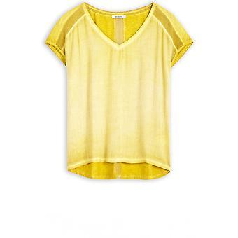 Sandwich kleding warme olijf zijdeachtige T-shirt
