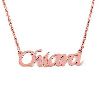 KL Kigu Chiara - Kvinders halskæde med navn, rosa guld, med navn, moderigtigt, gave til kæreste, mor, søster