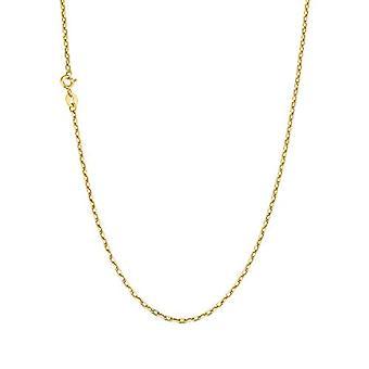 Amor - Collier unisex, keltainen kulta 375, ankkuripaita, 60 cm