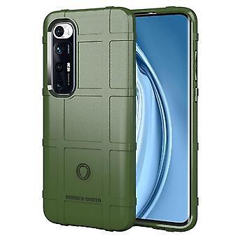 Tpu carbon fibre case for xiaomi 10i 5g green mfkj-1350