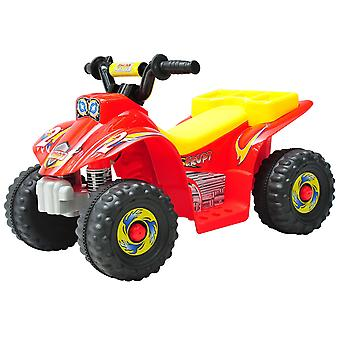 HOMCOM Kids 6V Electric Car Children Ride-on Toy Off Road Style Quad Bike Rechargeable Battery Powered- Red