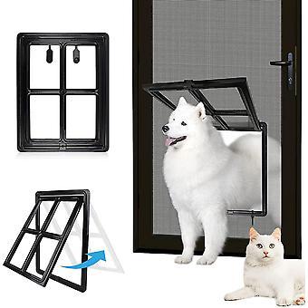 Hundeklappen Katzenklappe für Fliegengittertür Einfach zu Installieren Abschließbar Innengröße 40 cm