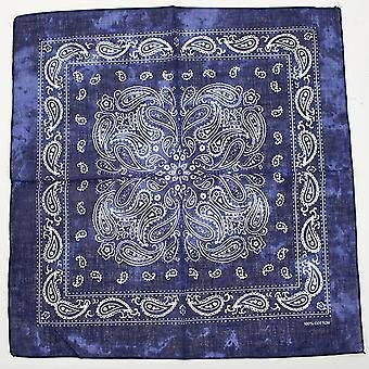 Bavlněná lebka Bandana Čtvercový šátek, Kapesník