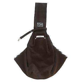 Coffee pet cotton shoulder bagpet outing messenger bagwith adjustable padded shoulder strap x3823