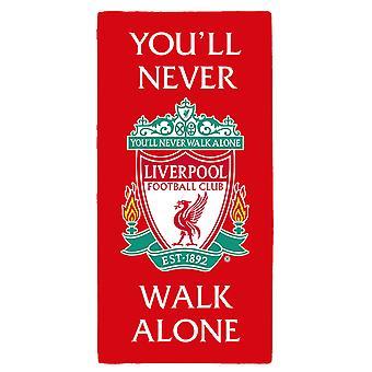 Liverpool FC Sie nie allein gehen Crest Handtuch