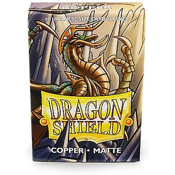 Dragon Shield Matte Copper Japanese Size Card Sleeves - 60 Sleeves