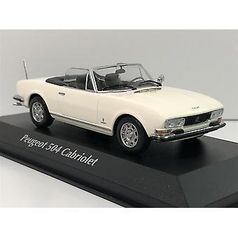 Maxichamps 940112131 Peugeot 504 Cabriolet 1977 White 1:43 Scale