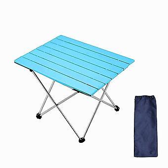 الأزرق 56.5 * 40.5 * 41cm سبائك الألومنيوم الخفيفة جدا للطي الجدول homi4945