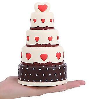 18 * 10.5 * 10.5Cm انتعاش بطيء المتضخم كعكة من خمس طبقات اسفنجي، لعبة تخفيف التوتر للأطفال، az11644 الكبار