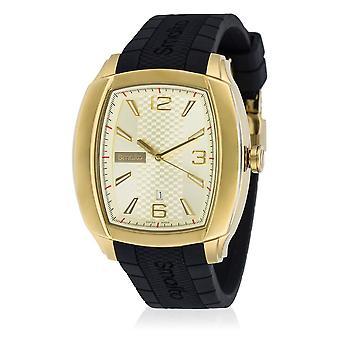 Men's Watch Smalto LANA golden dial - silicone strap - 42 mm