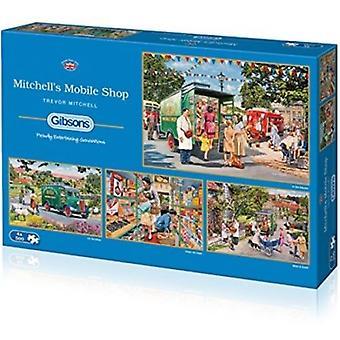 Mitchells Mobilshop 4 x 500 bit pussel