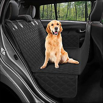 Dog Back Seat Cover Protector Hammock, Pets Seat Covers For Cars Black(Black)