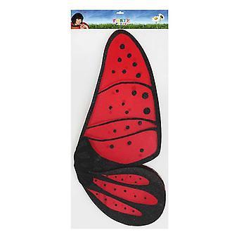 Schmetterlingsflügel 112605 Rot Schwarz