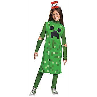 Creeper Girl Classic Mojan Minecraft Hostile Mobs Video Game Girls Kostym