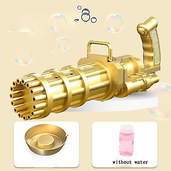 Holes Large Kids Gatling Bubble Gun Toys Summer Automatic Soap Water Bubble Machine
