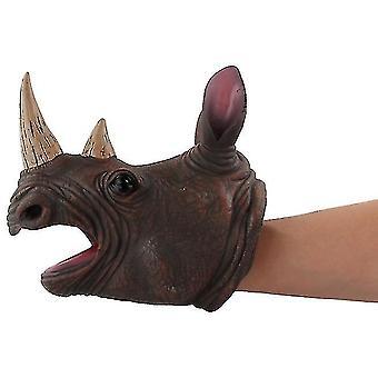 Eläinten pään käsin nukkehahmo lelu käsineet lapsille Dinosaur Käsi nukke lelu