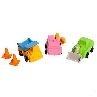 Nektar Trucks 3D Eraser Set, Fun Designs, Child Development, Stationery Supplies, 5 Pieces,  2-3 cm