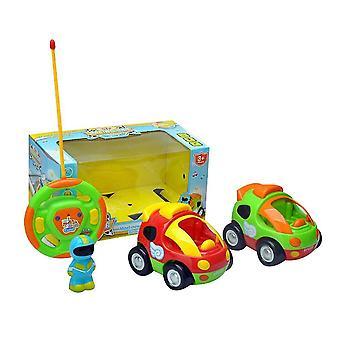 Cartoon R/c Police Car And Race Car Radio Control Toys For Kids(Set2)